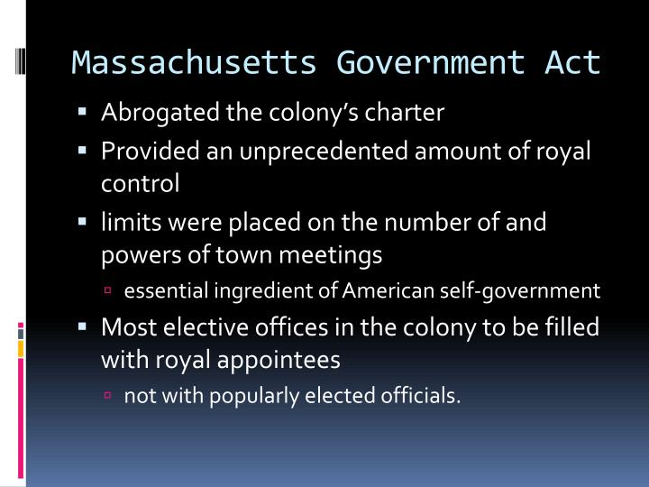 Massachusetts Government Act
