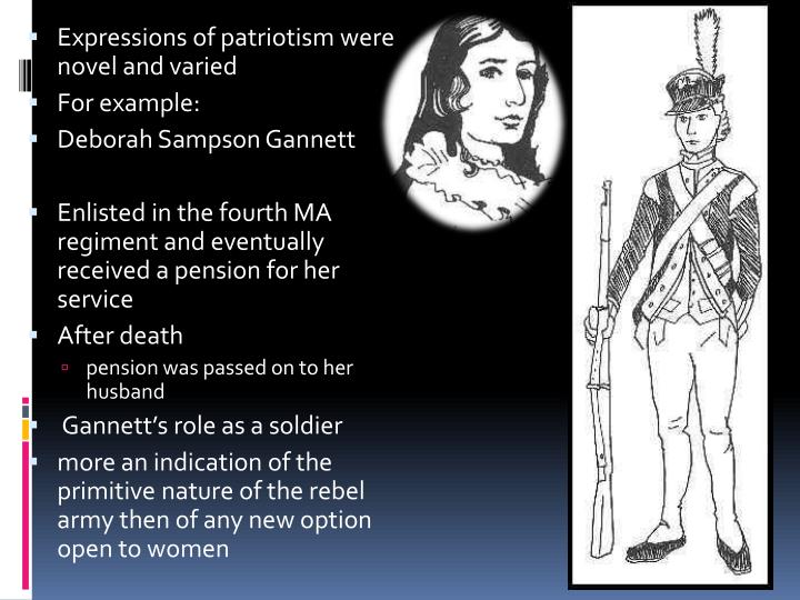 Expressions of patriotism were novel and varied
