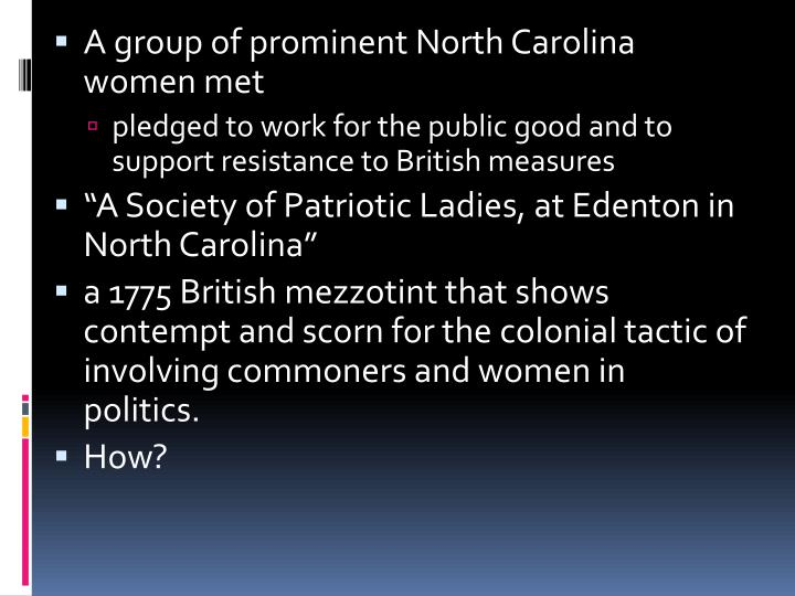 A group of prominent North Carolina women met