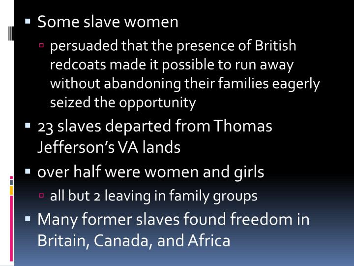 Some slave women