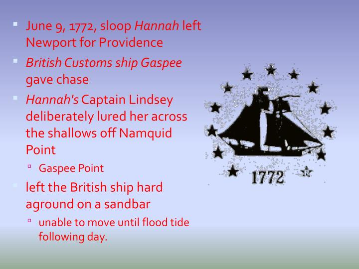 June 9, 1772, sloop