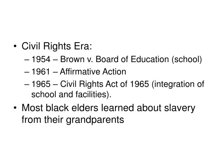 Civil Rights Era: