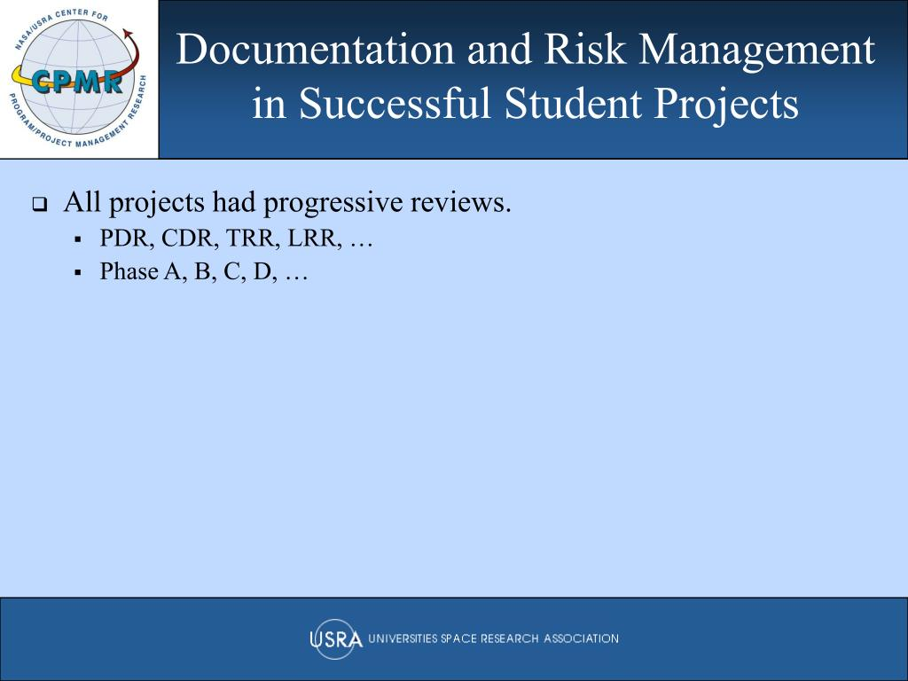 Documentation and Risk Management