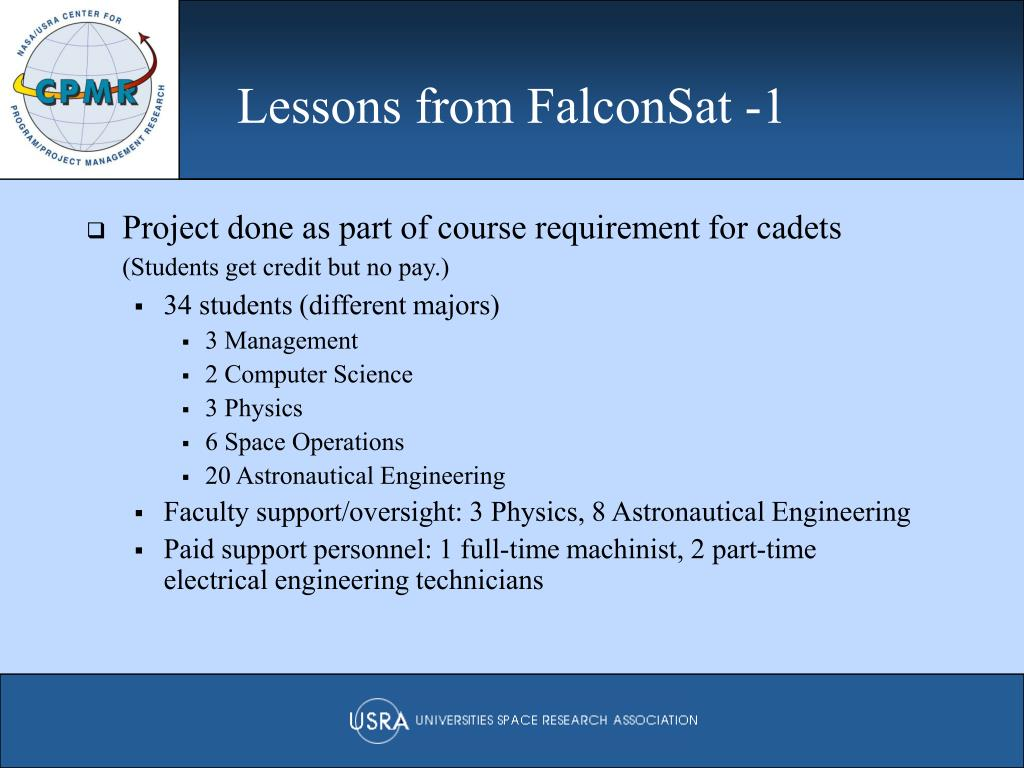 Lessons from FalconSat -1