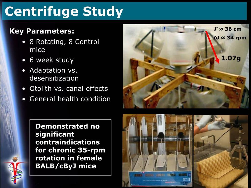 Centrifuge Study