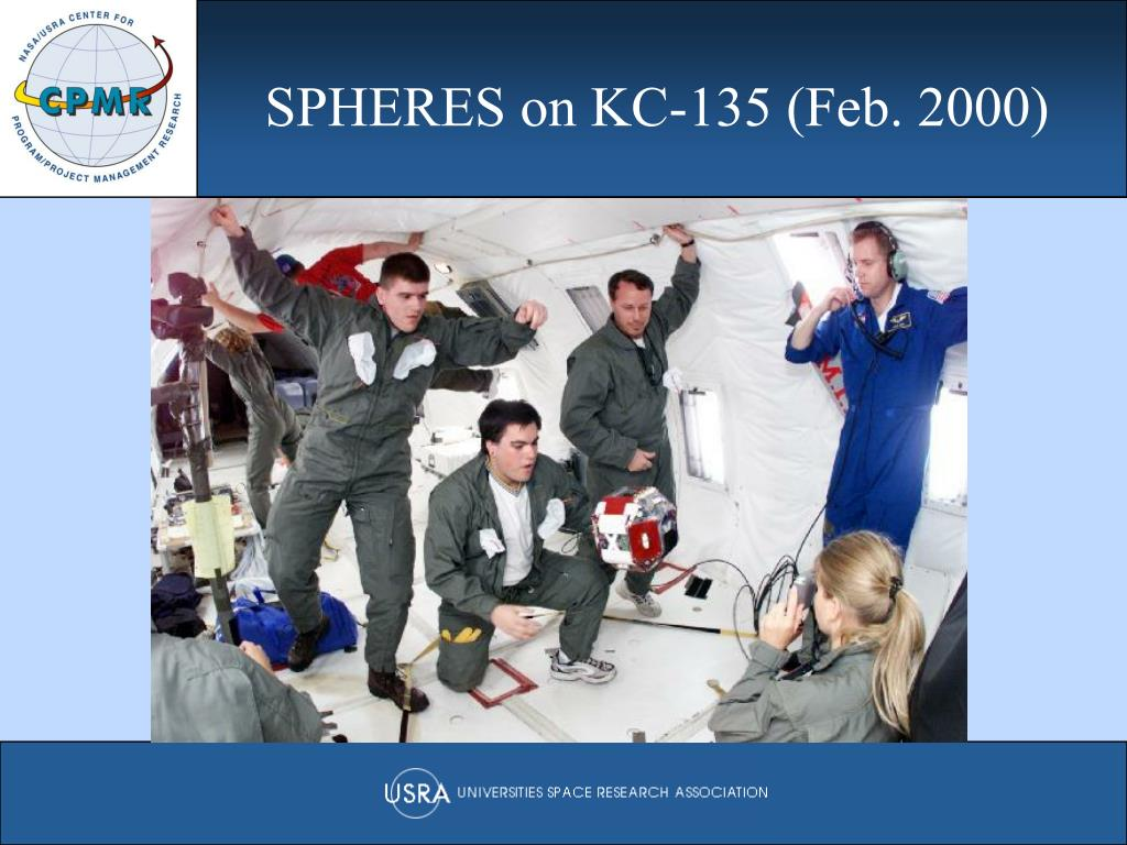 SPHERES on KC-135 (Feb. 2000)
