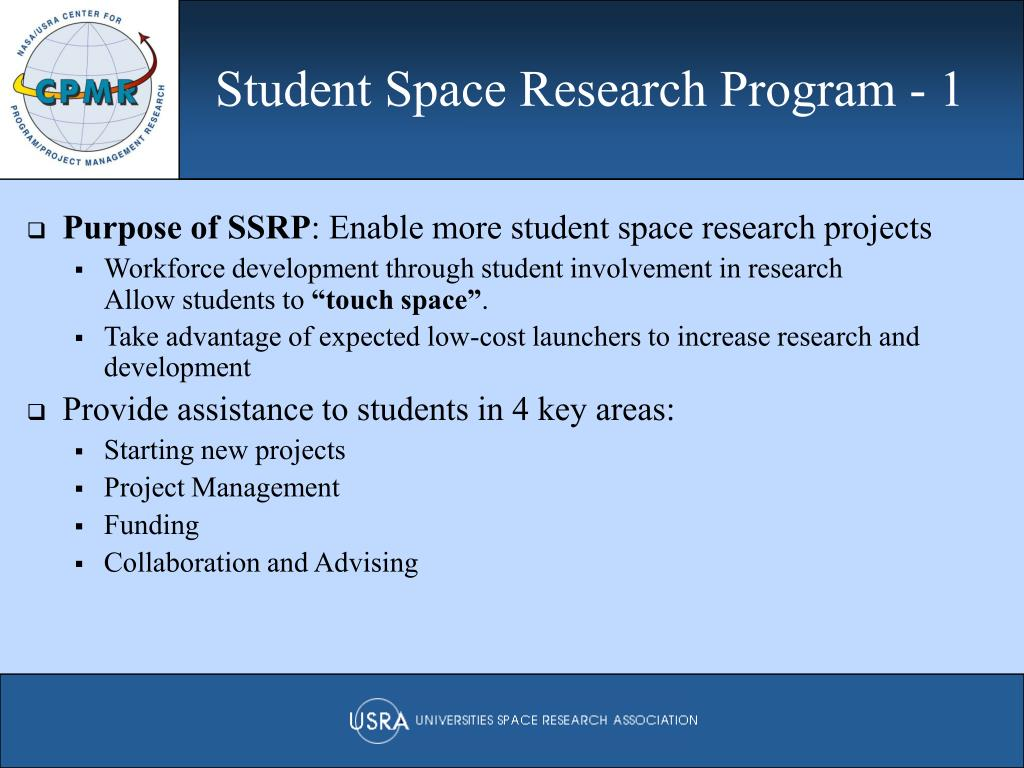 Student Space Research Program - 1