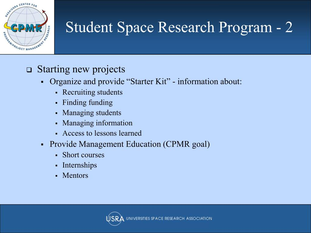 Student Space Research Program - 2