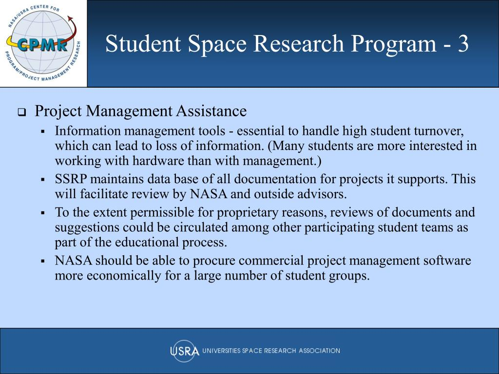 Student Space Research Program - 3