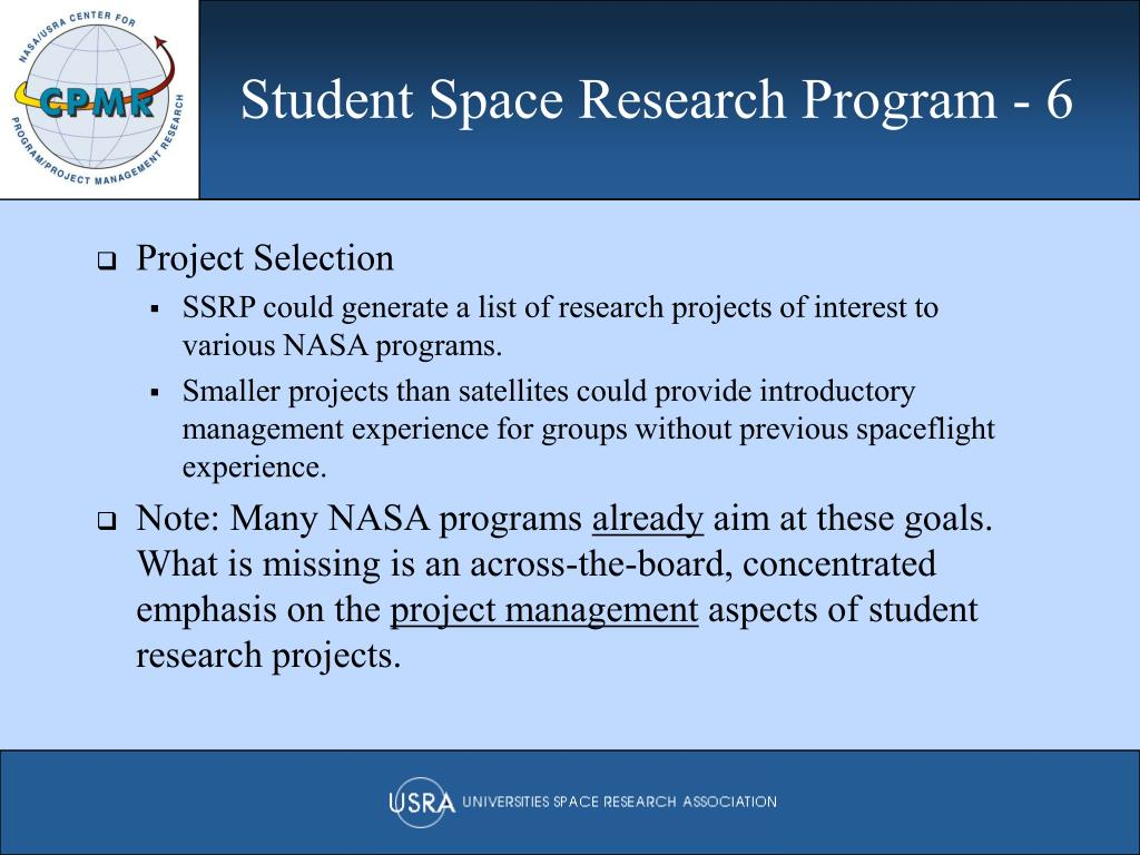 Student Space Research Program - 6