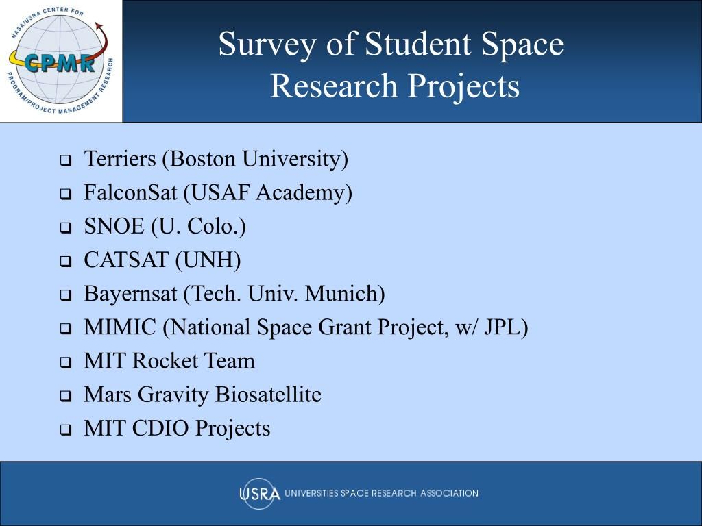 Survey of Student Space