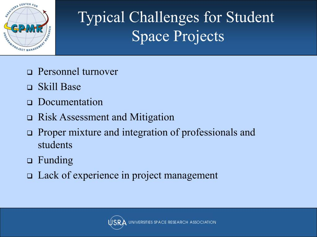 Typical Challenges for Student
