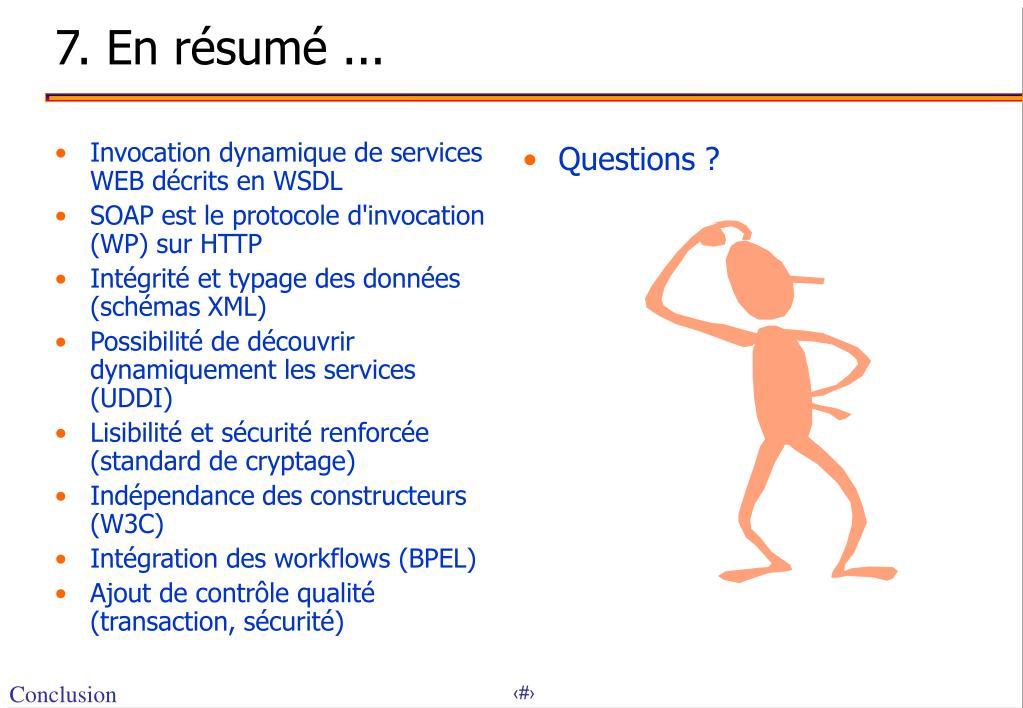 Invocation dynamique de services WEB décrits en WSDL