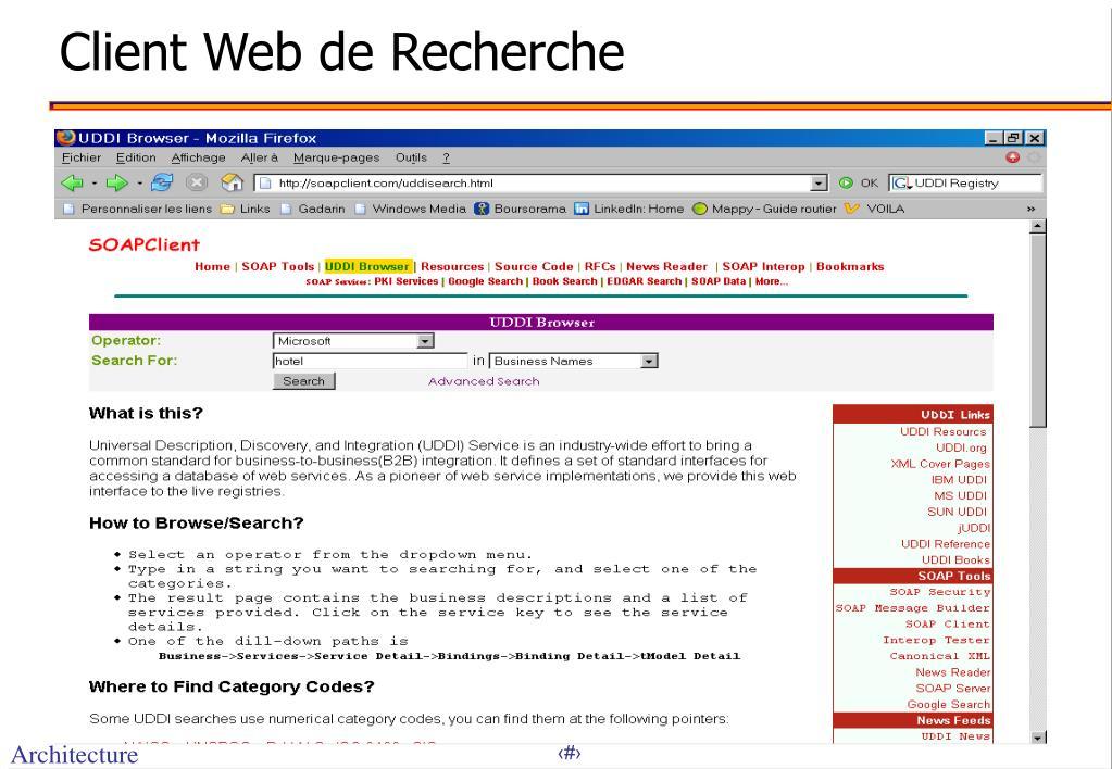Client Web de Recherche