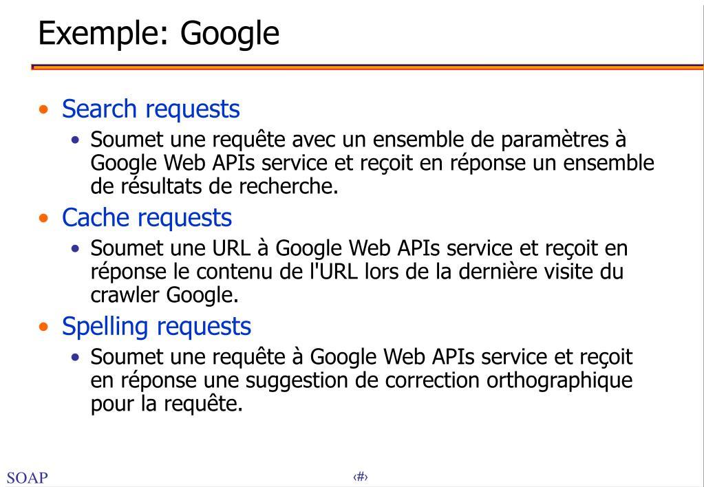Exemple: Google