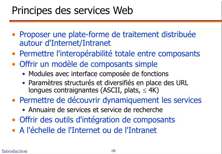 Principes des services web