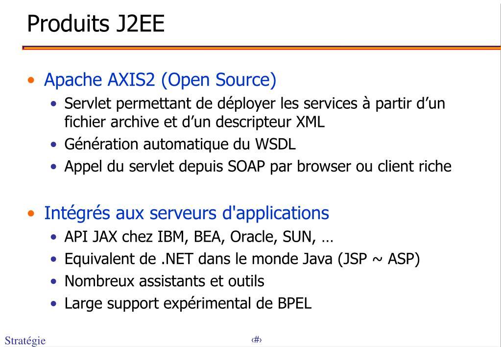 Produits J2EE