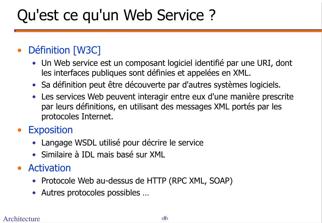 Qu'est ce qu'un Web Service ?