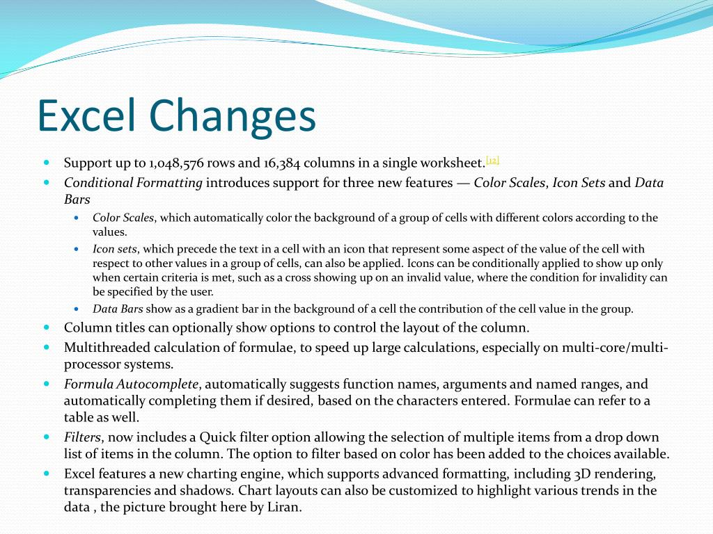 Excel Changes