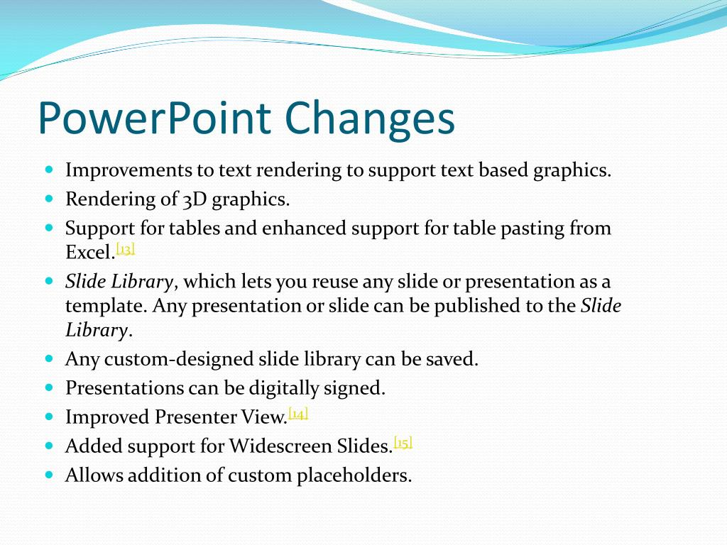 PowerPoint Changes