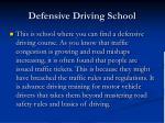 defensive driving school