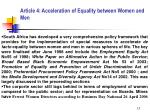article 4 acceleration of equality between women and men