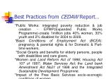 best practices from cedaw report