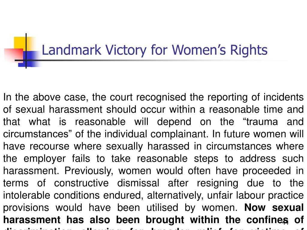 Landmark Victory for Women's Rights