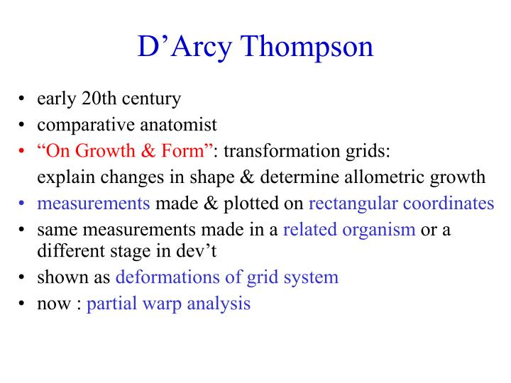 D'Arcy Thompson