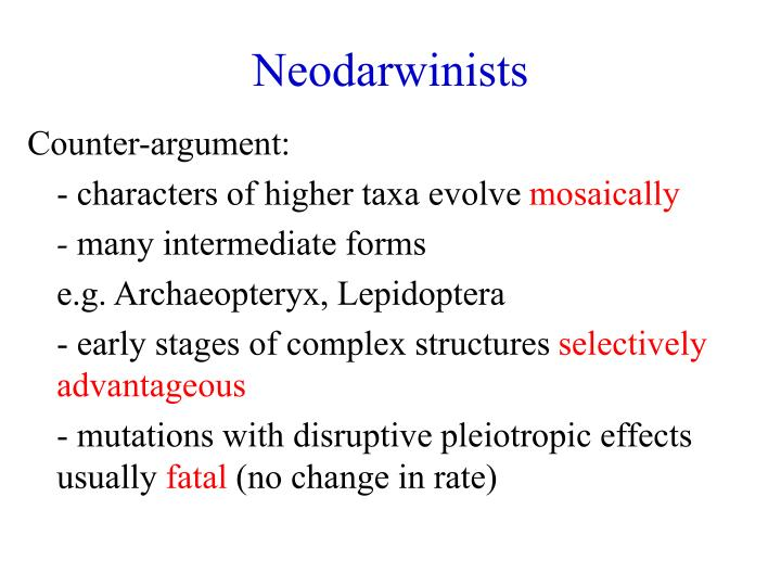 Neodarwinists