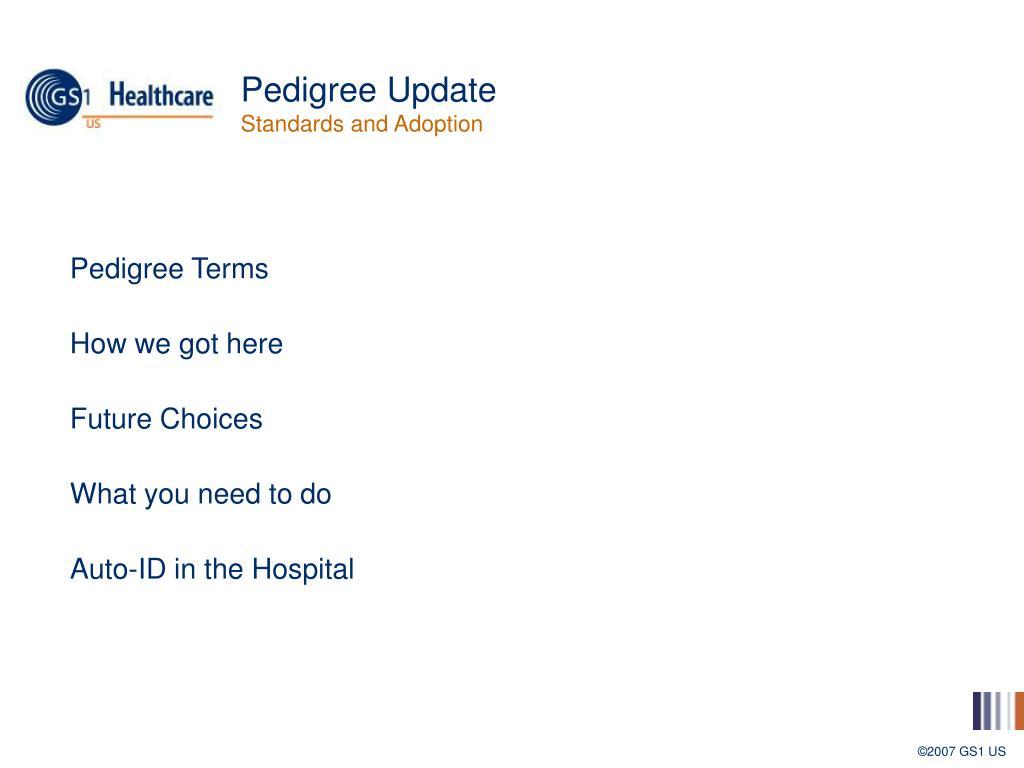 Pedigree Update