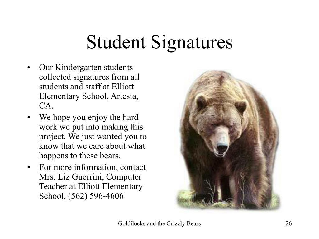 Student Signatures