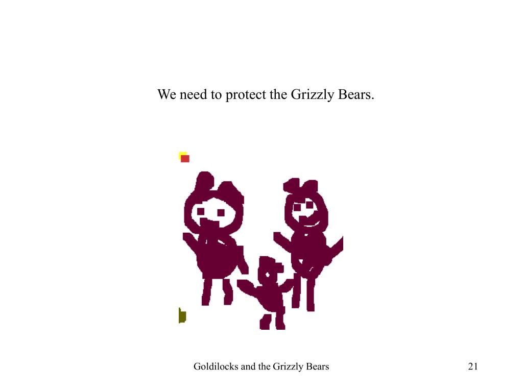 We need to protect the Grizzly Bears.