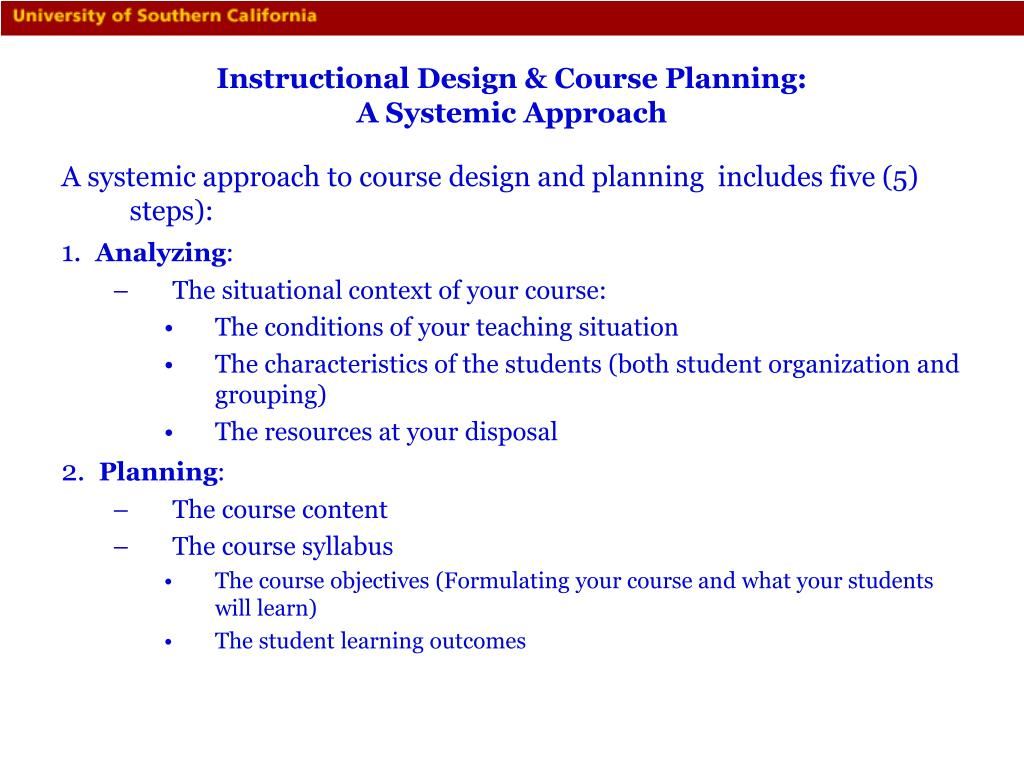 Instructional Design & Course Planning: