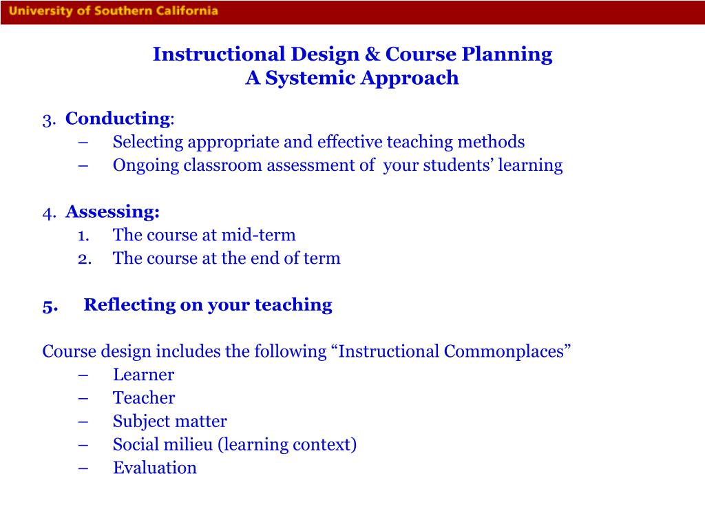 Instructional Design & Course Planning