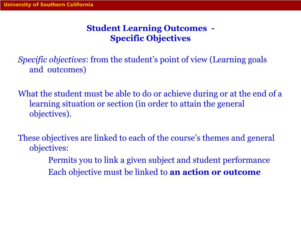 Student Learning Outcomes  -