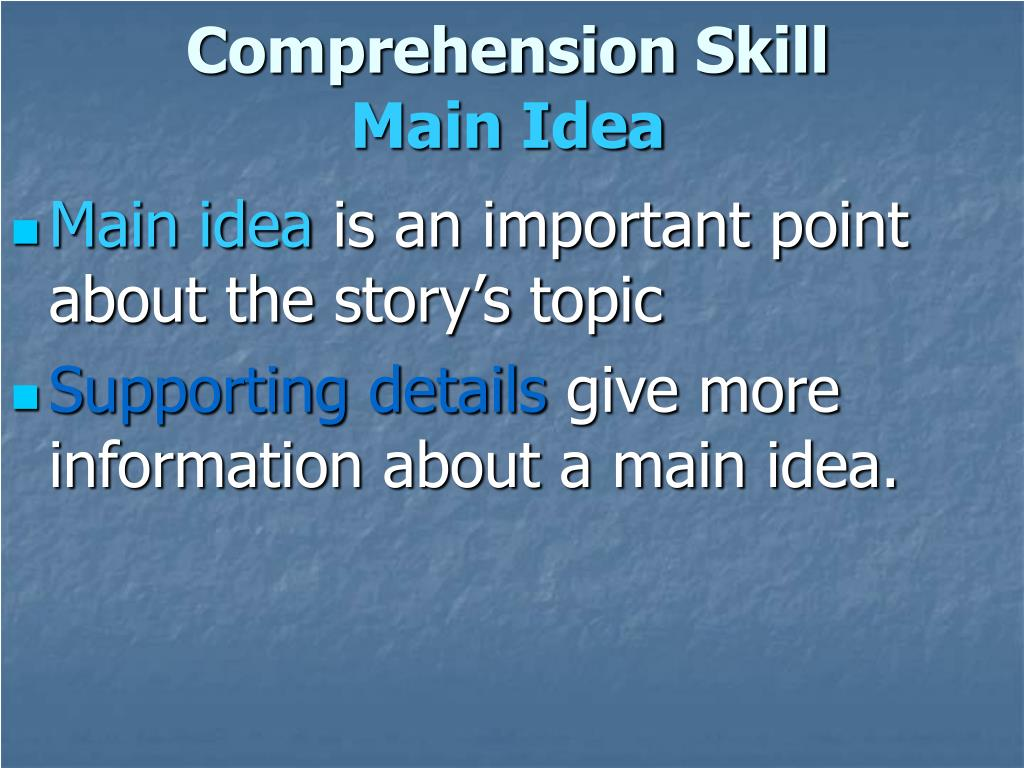 Comprehension Skill