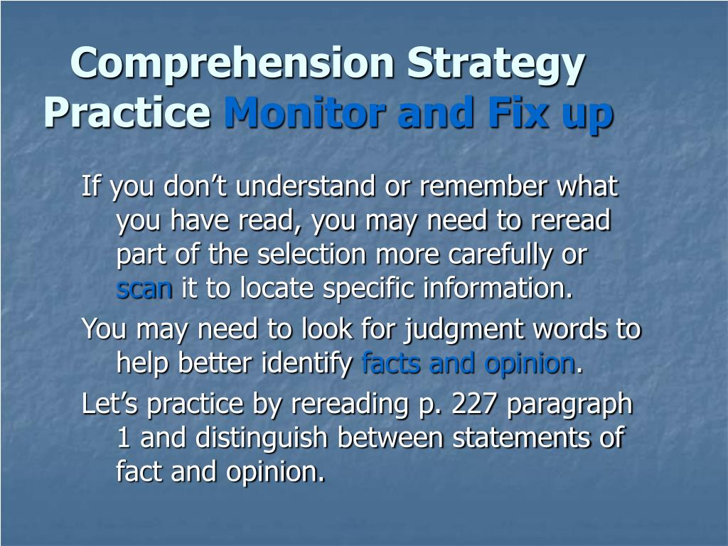 Comprehension Strategy Practice