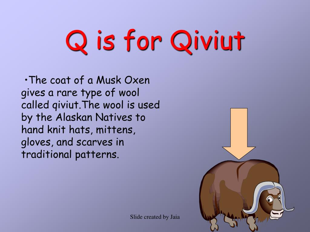Q is for Qiviut