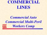 commercial lines commercial auto commercial multi peril workers comp
