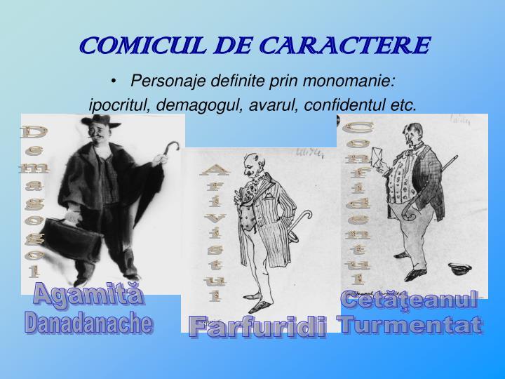 COMICUL DE CARACTERE