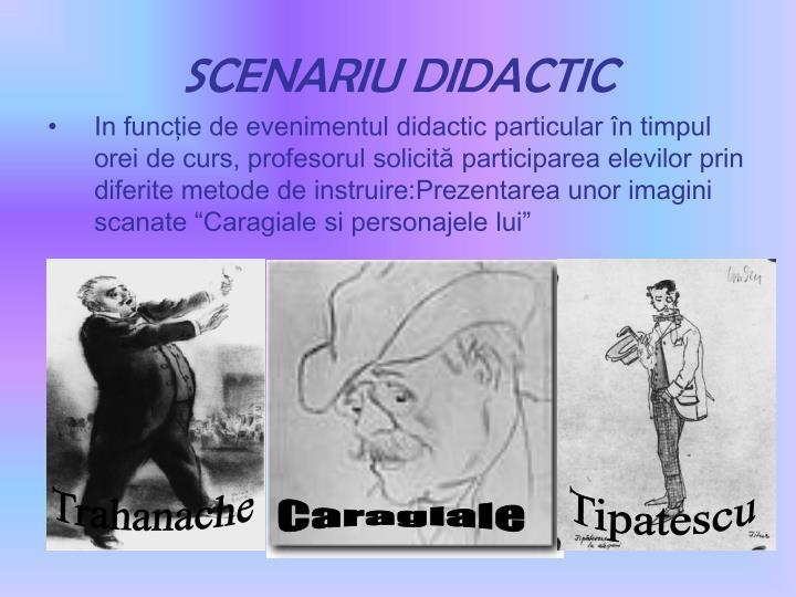 SCENARIU DIDACTIC