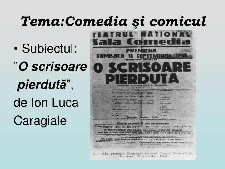 Tema:Comedia