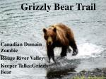 grizzly bear trail