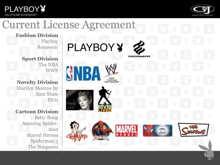 Current License Agreement