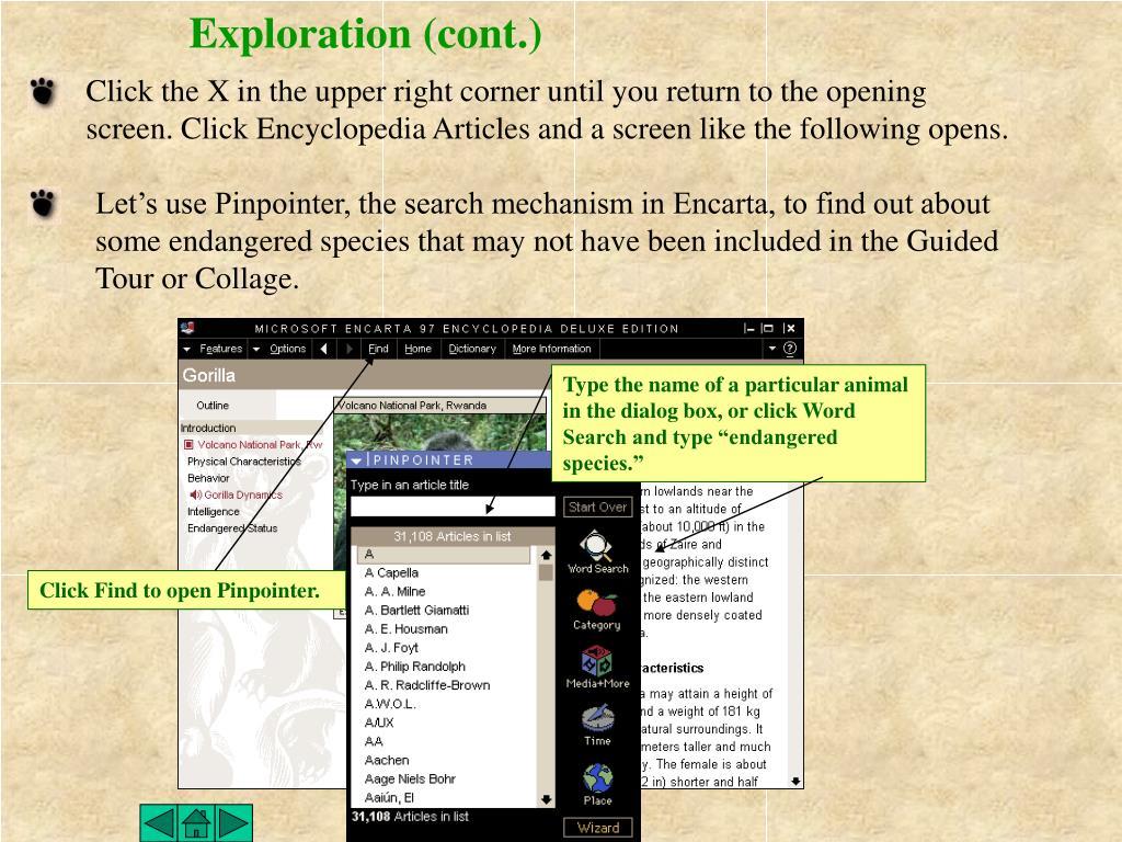 Exploration (cont.)