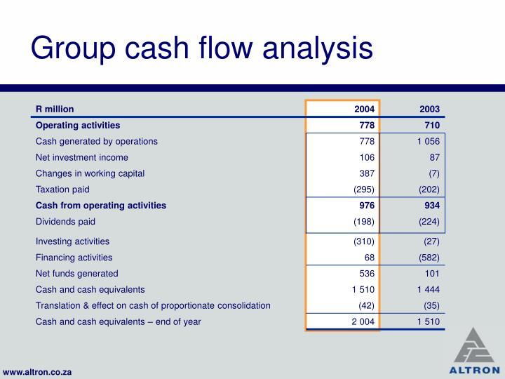 Group cash flow analysis