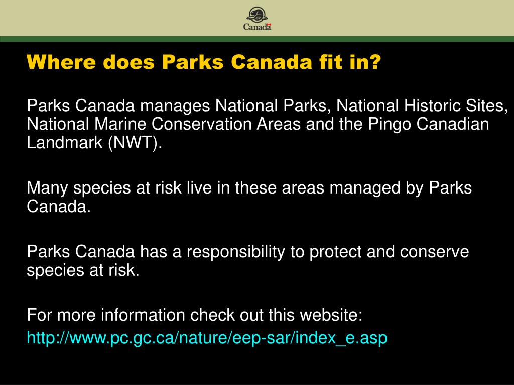 Where does Parks Canada fit in?