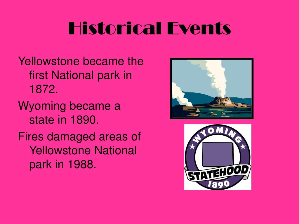 Yellowstone became the first National park in 1872.