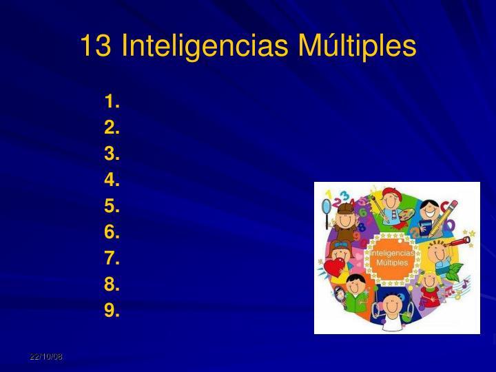 13 Inteligencias Múltiples